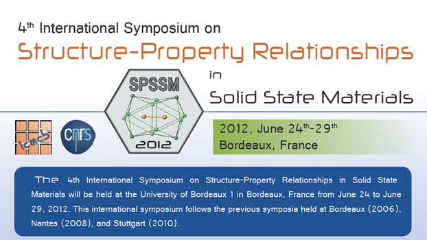 International Symposium on Structure-Property Relationships in Solid State Materials